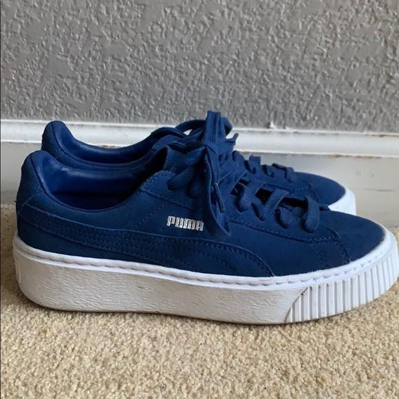 Puma Shoes | Royal Blue Puma Platforms